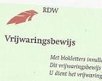 Sloopauto RDW vrijwaringsbewijs