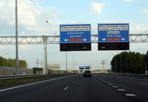 Auto op ringweg A2 Amsterdam